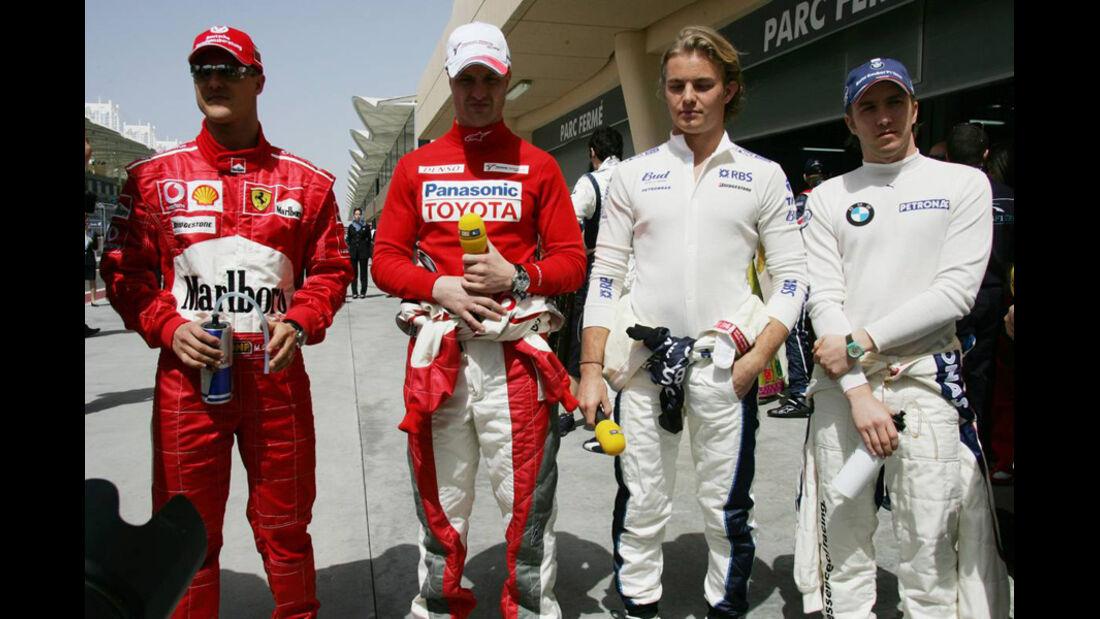 Nico Rosberg, Schumacher und Heidfeld