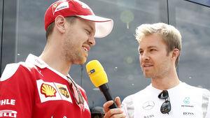 Nico Rosberg & Sebastian Vettel - GP Spanien 2016