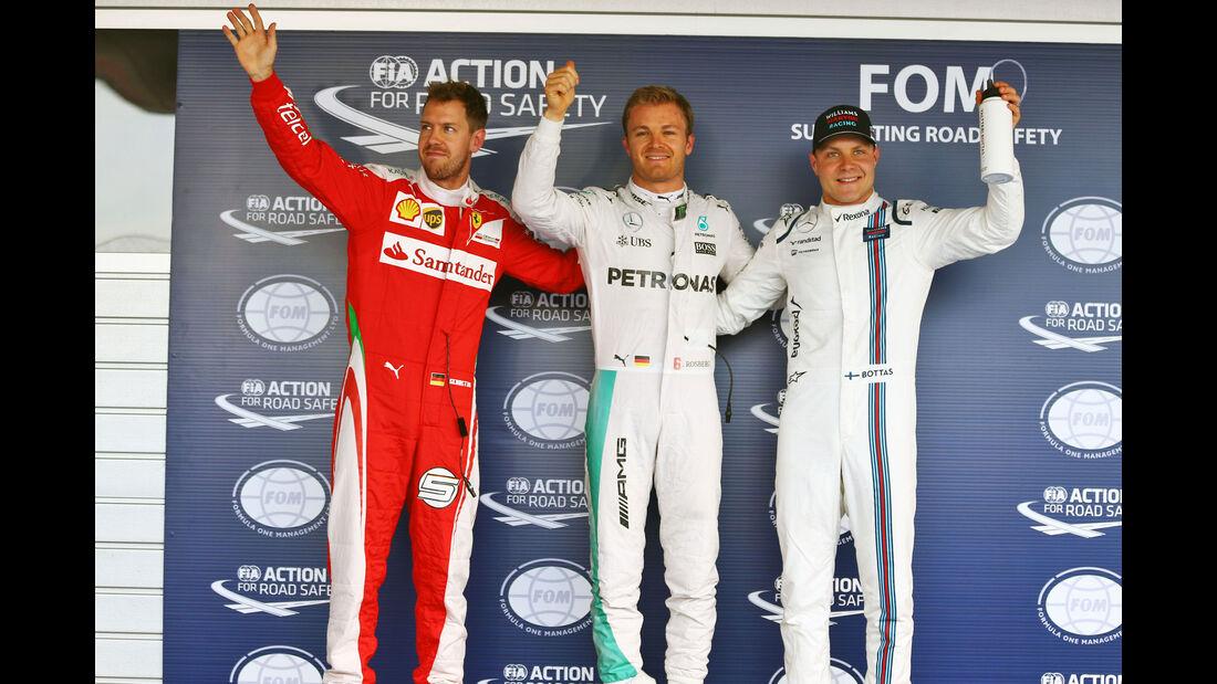Nico Rosberg - Sebastian Vettel - Valtteri Bottas - Mercedes - Formel 1 - GP Russland - 30. April 2016