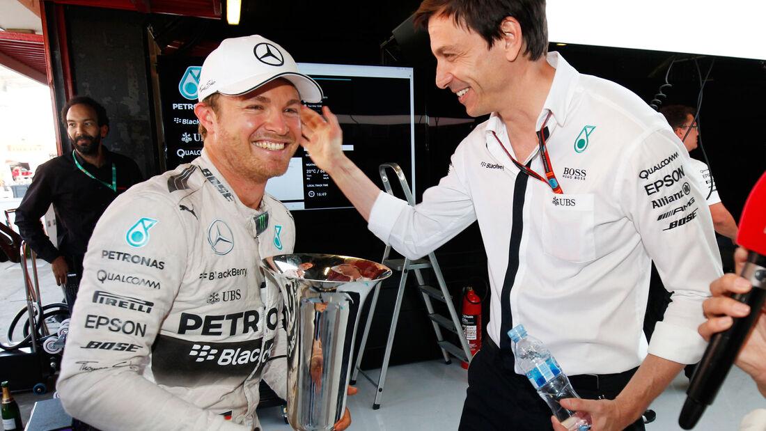 Nico Rosberg - Toto Wolff - Mercedes - GP Spanien 2015 - Sonntag - 10.5.2015