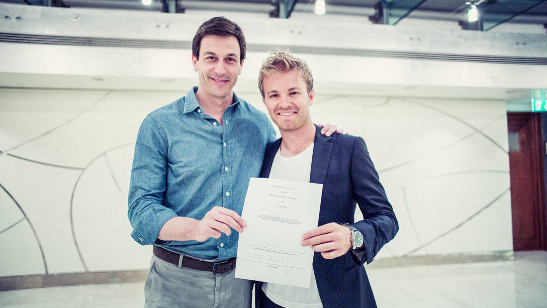Nico Rosberg & Toto Wolff - Mercedes - Vertrag 2016