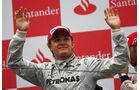 Nico Rosberg für Mercedes auf dem Podium