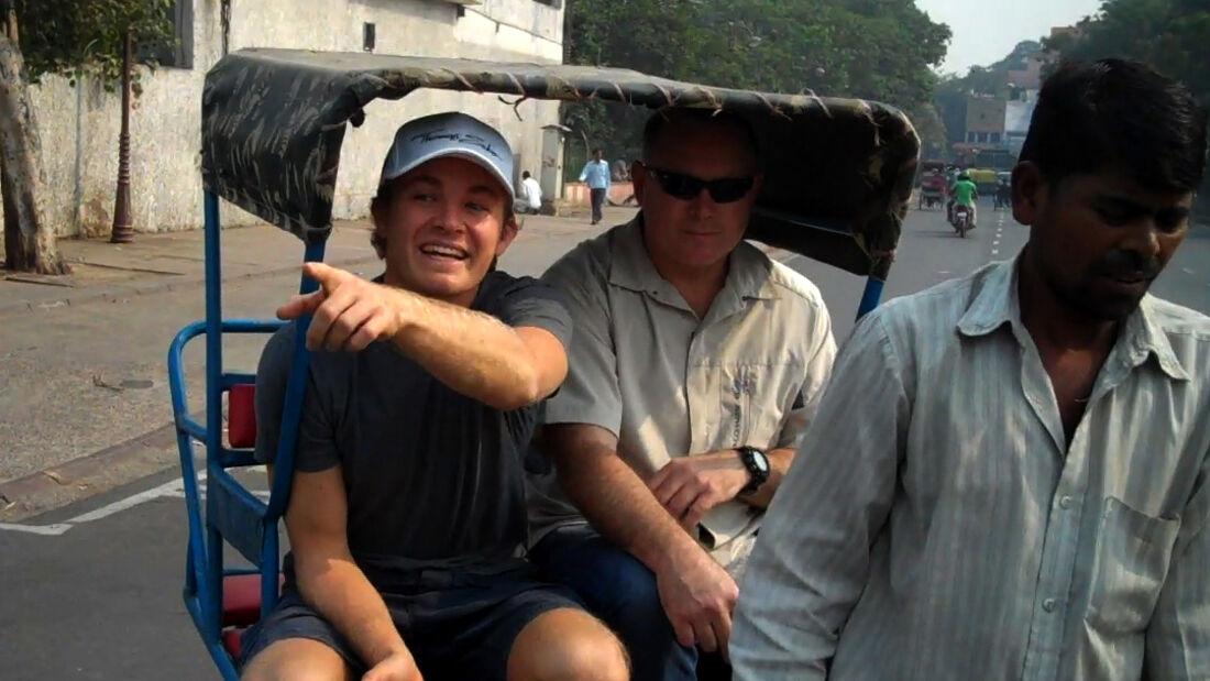 Nico Rosberg in Delhi