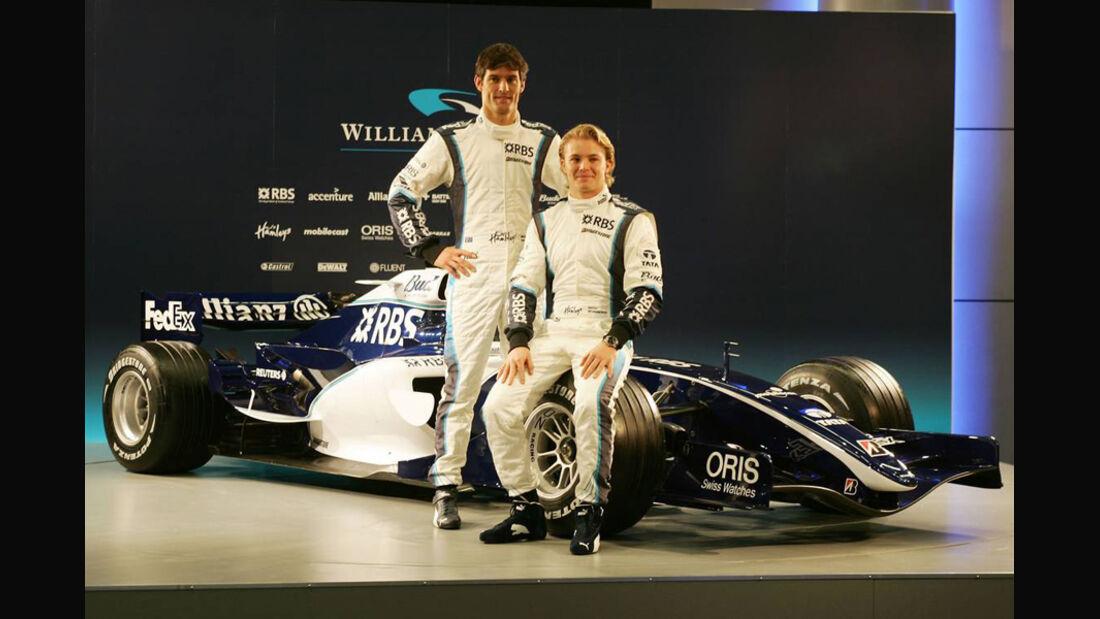 Nico Rosberg und Mark Webber