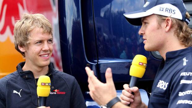 Nico Rosberg und Sebastian Vettel