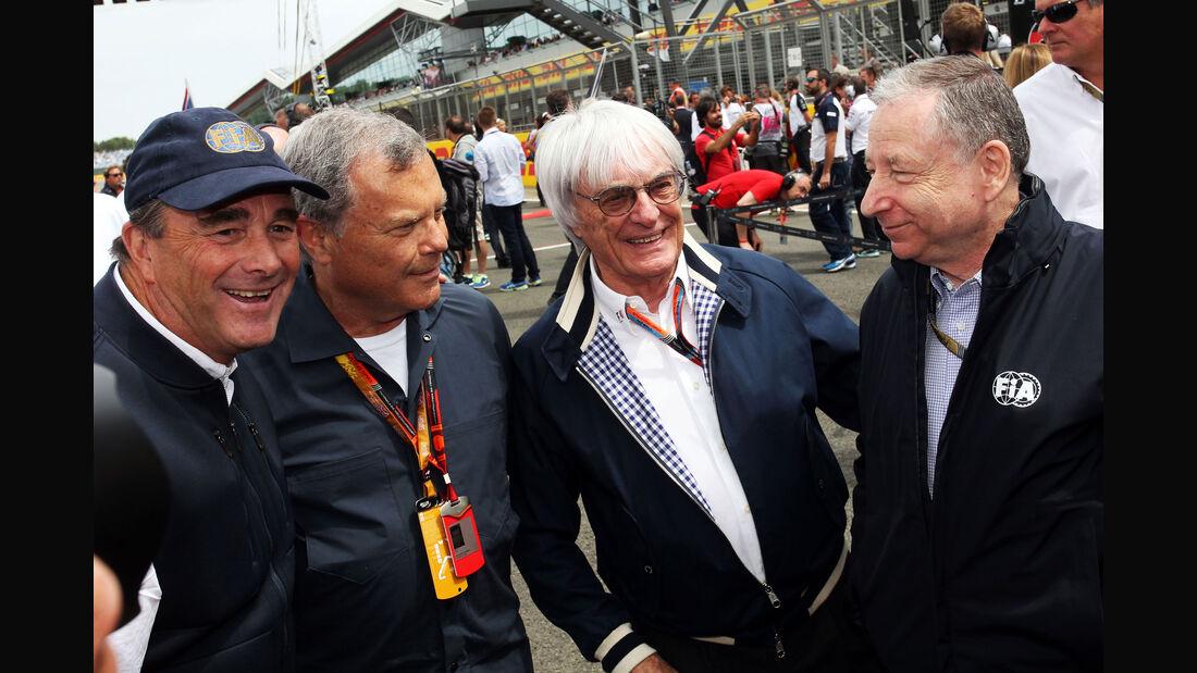 Nigel Mansell - Bernie Ecclestone - Jean Todt - GP England - Silverstone - Rennen - Sonntag - 5.7.2015