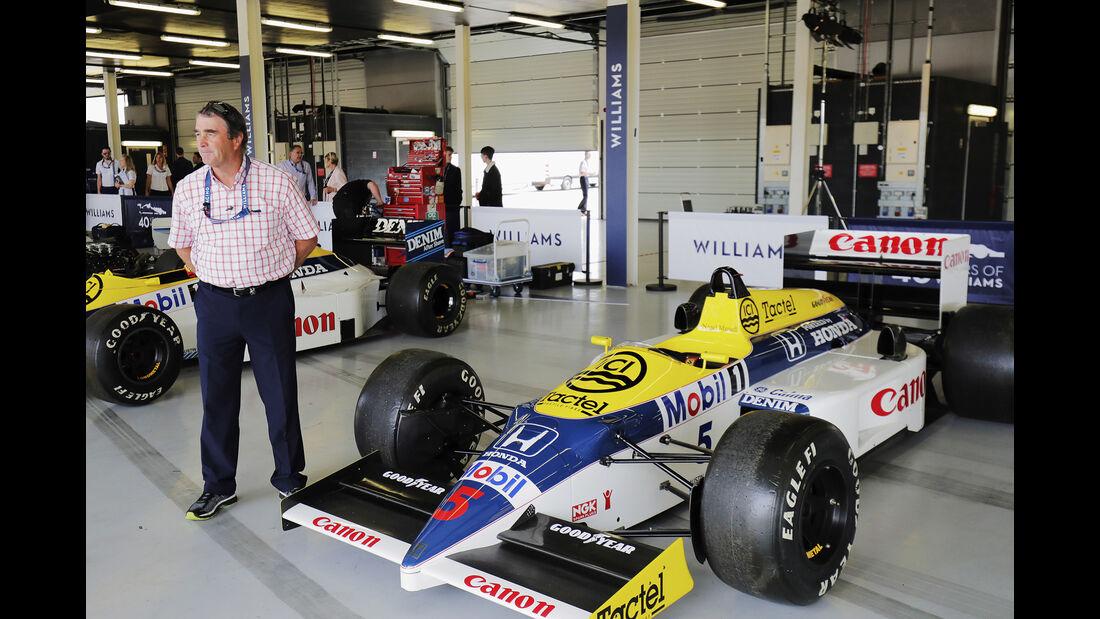 Nigel Mansell - Williams Honda FW11 - Williams-Jubiläum - Silverstone - 2017