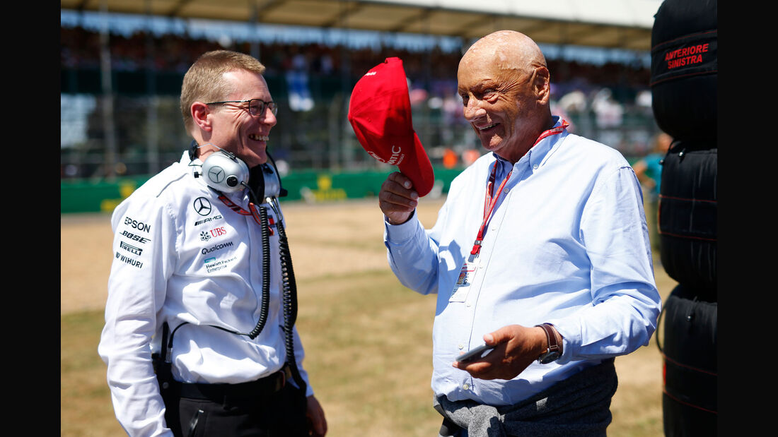 Niki Lauda - Andy Cowell - Mercedes - GP England 2018 - Silverstone - Rennen