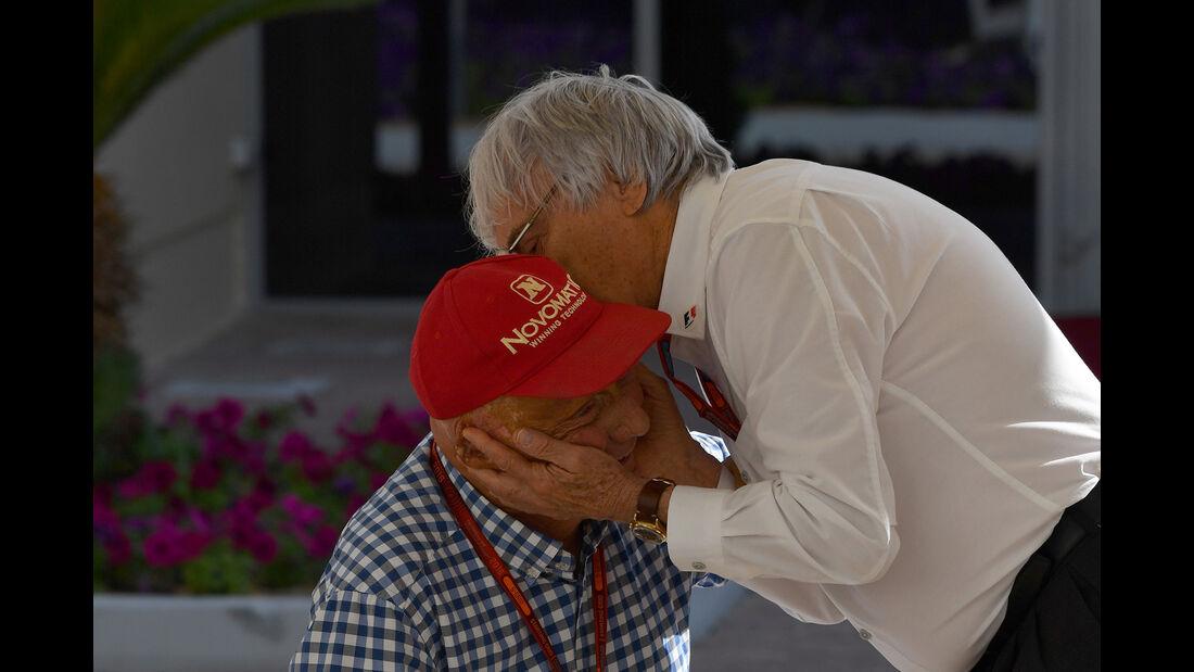 Niki Lauda & Bernie Ecclestone - Formel 1 - GP Abu Dhabi 2016