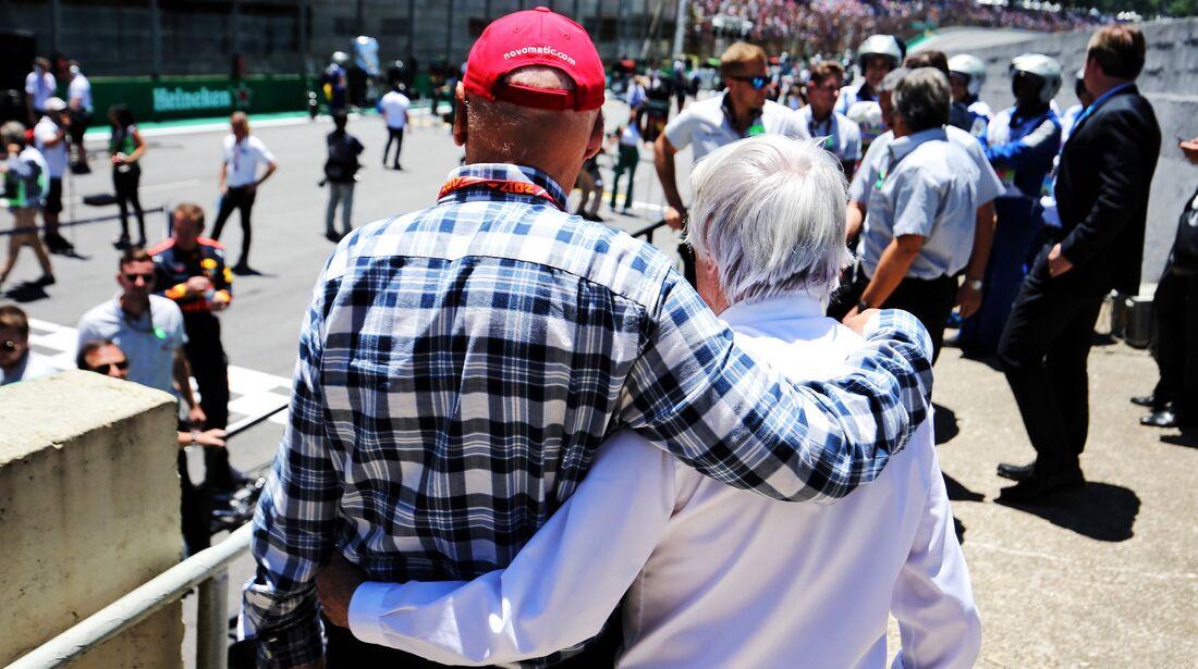 Niki Lauda - Bernie Ecclestone - Formel 1 - GP Brasilien - 12. November 2017