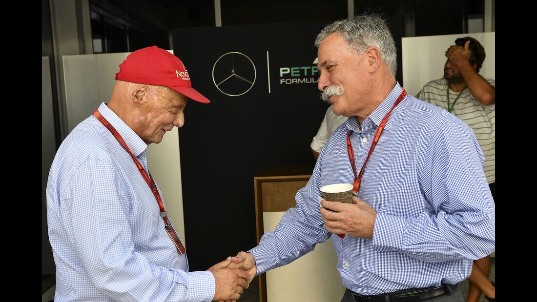 Niki Lauda & Chase Carey (Liberty Media) - Formel 1 - GP Abu Dhabi - 26. November 2016