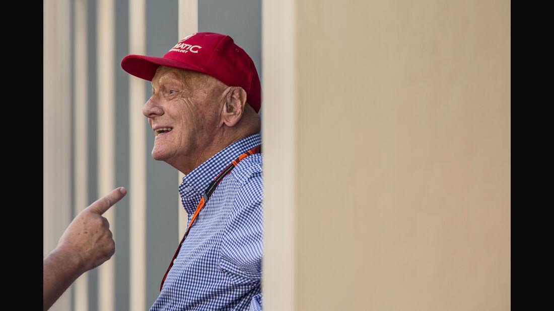 Niki Lauda - Danis Bilderkiste - GP Abu Dhabi 2015