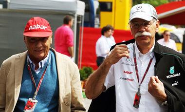 Niki Lauda Dieter Zetsche GP Spanien 2012
