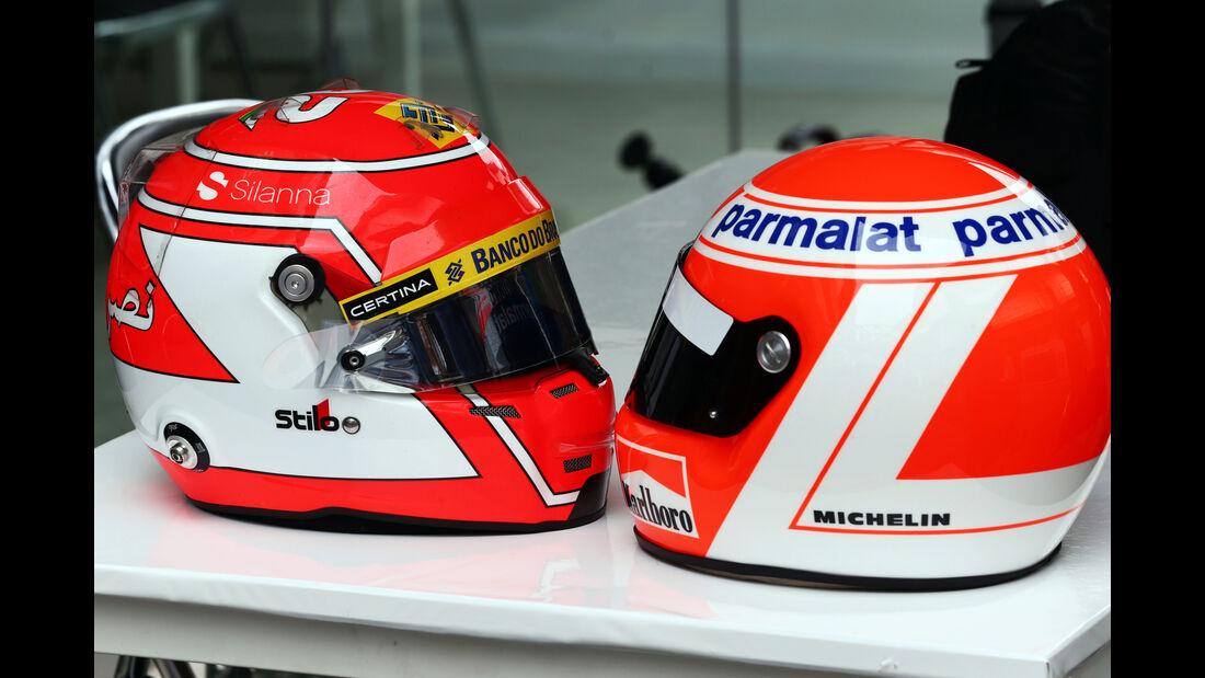 Niki Lauda - Felipe Nasr - Helme - Formel 1 - GP Brasilien- 12. November 2015