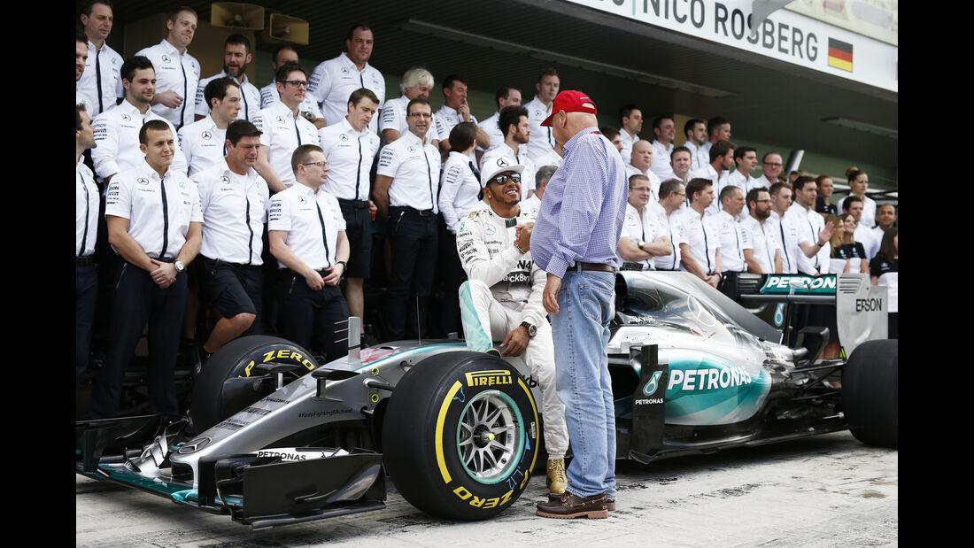 Niki Lauda - GP Abu Dhabi 2015