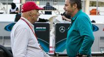 Niki Lauda - Gerhard Berger - GP Bahrain 2017 - Rennen