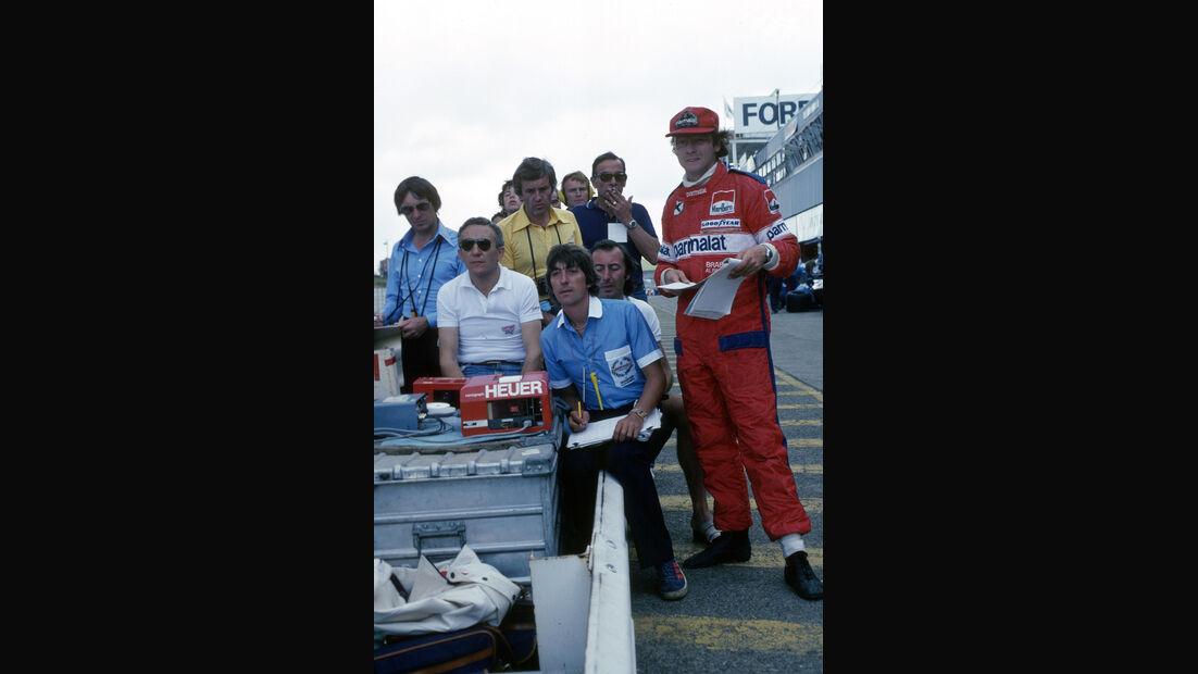 Niki Lauda - Herbie Blash - Sante Ghedini - Bernie Ecclestone - Helmut Zwickl - Max Mosley - GP Südafrika 1978 - Kyalami