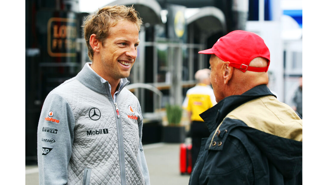 Niki Lauda & Jenson Button - Formel 1 - GP Belgien - Spa-Francorchamps - 24. August