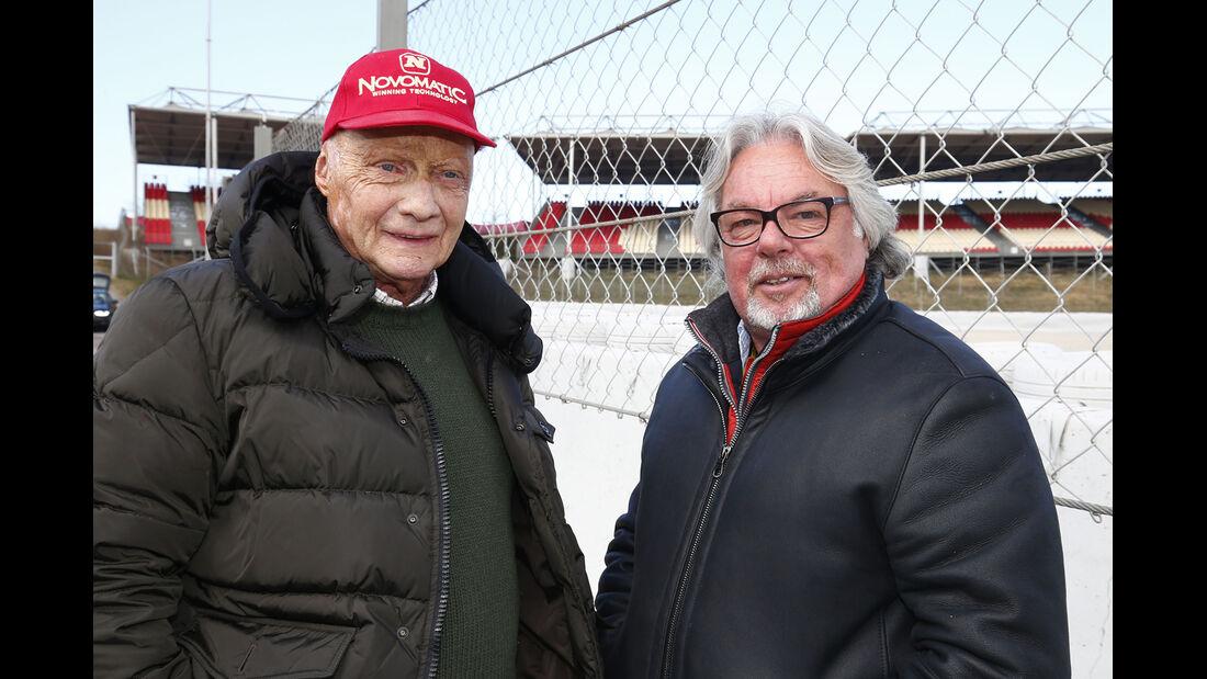 Niki Lauda & Keke Rosberg - Mercedes - Formel 1-Test - Barcelona - 27. Februar 2015