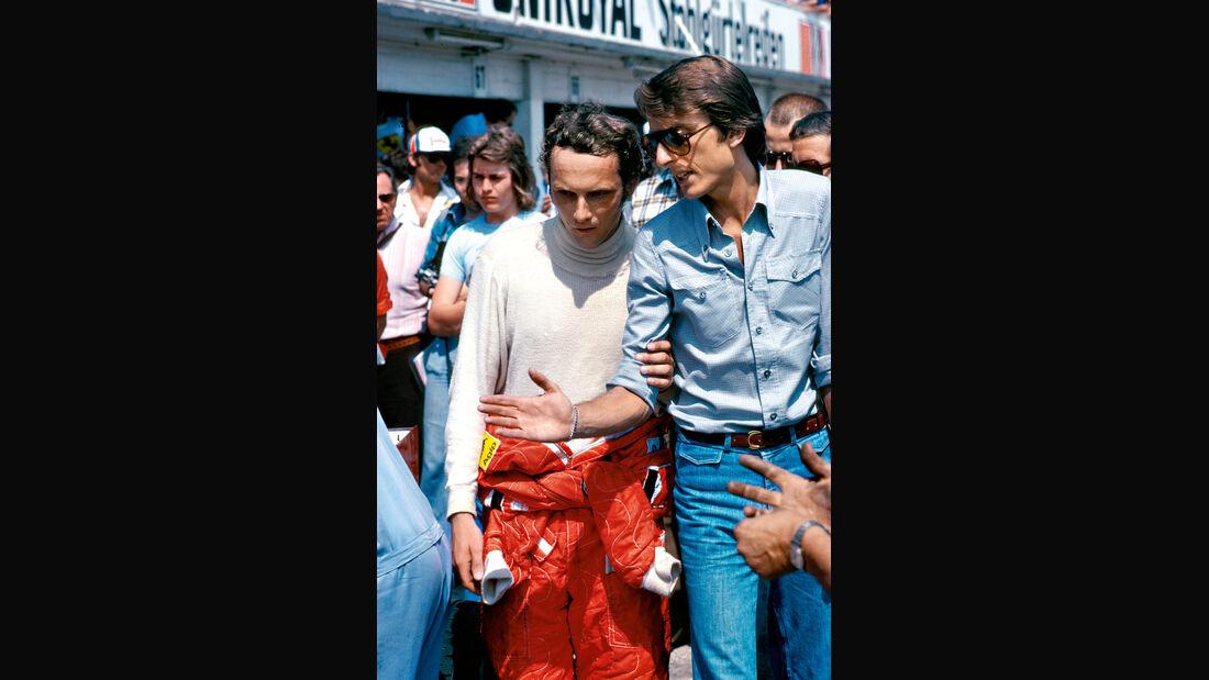 Niki Lauda - Luca di Montezemolo - Ferrari - Nürburgring 1976