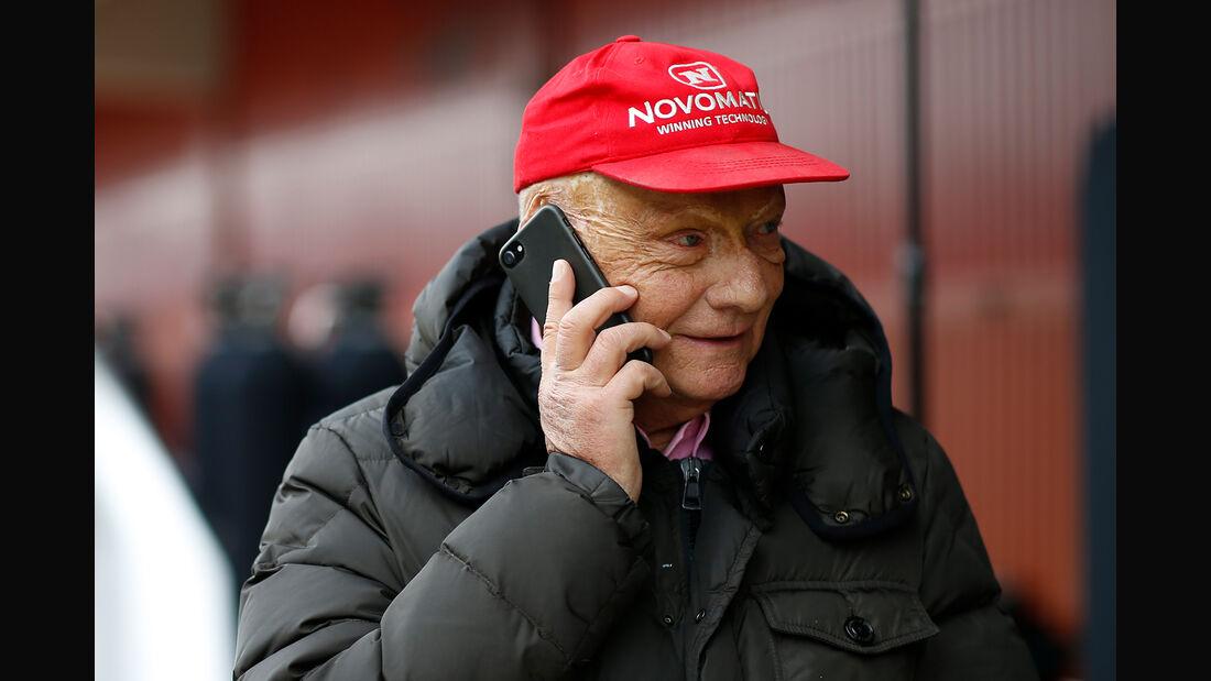 Niki Lauda - Mercedes - F1-Test - Barcelona - Tag 2 - 27. Februar 2018