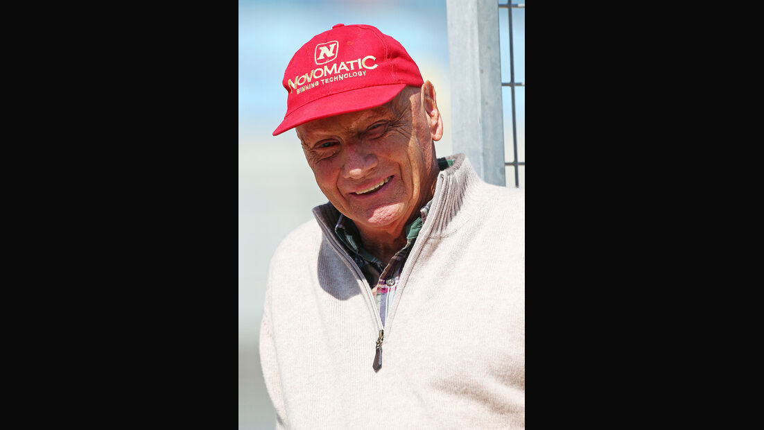 Niki Lauda - Mercedes - Formel 1 - Bahrain - Test - 29. Februar 2014