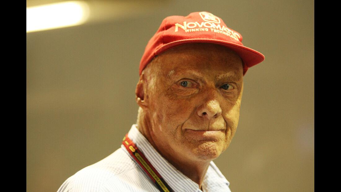 Niki Lauda - Mercedes - Formel 1 - GP Singapur - 20. September 2014