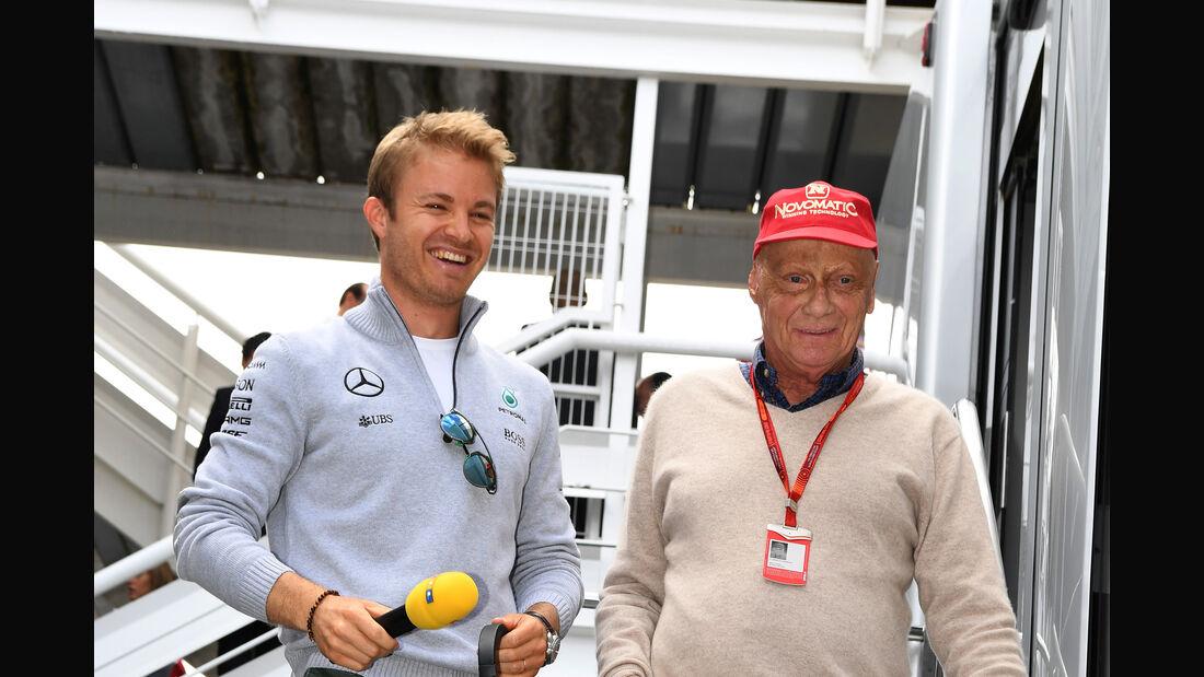 Niki Lauda & Nico Rosberg - Mercedes - F1 2016