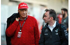 Niki Lauda & Paddy Lowe - Mercedes - Formel 1 - GP USA - 15. November 2013