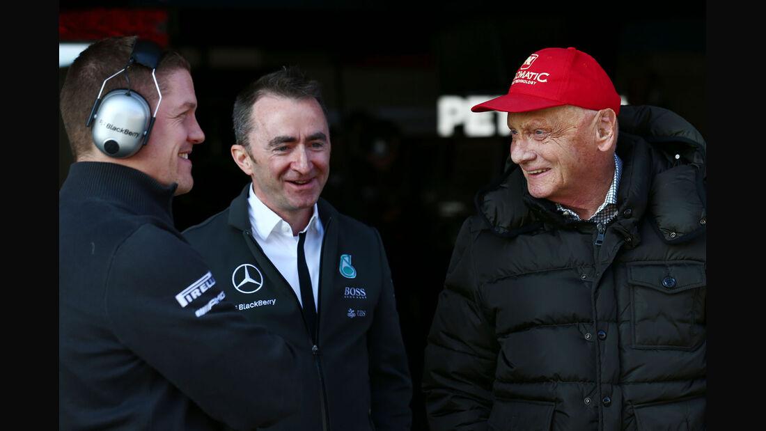 Niki Lauda - Paddy Lowe - Mercedes - Formel 1-Test - Barcelona - 19. Februar 2015