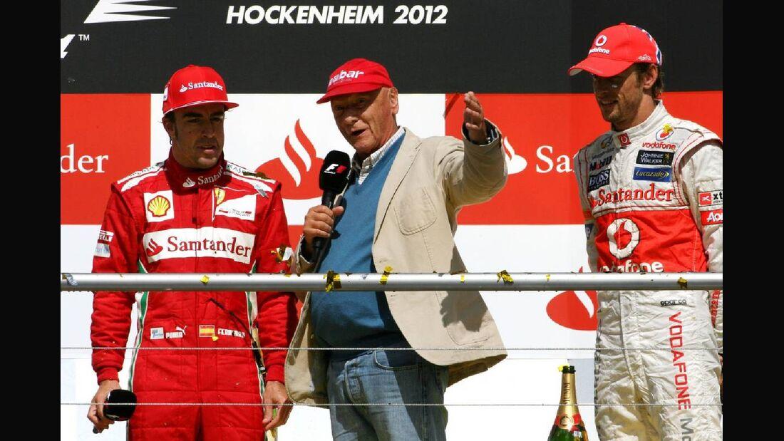 Niki Lauda Siegerpodest - Formel 1 - GP Deutschland - 22. Juli 2012