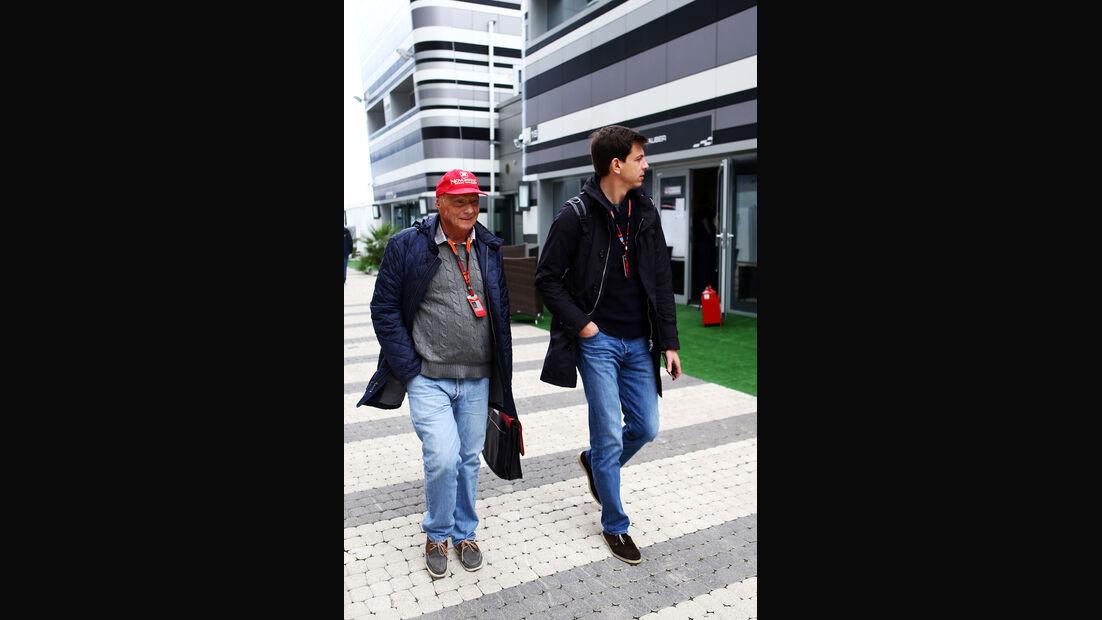 Niki Lauda - Toro Wolff - Mercedes - GP Russland - Sochi - Freitag - 9.10.2015