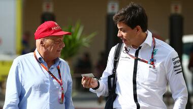 Niki Lauda & Toto Wolff - Formel 1 - GP Abu Dhabi - 27. November 2015