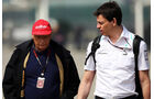 Niki Lauda - Toto Wolff - Formel 1 - GP China - 13. April 2013