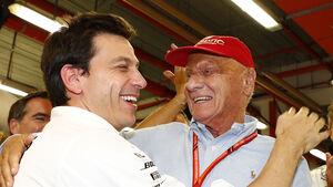 Niki Lauda & Toto Wolff - GP Singapur 2017