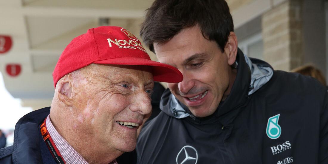 Niki Lauda & Toto Wolff - GP USA 2015