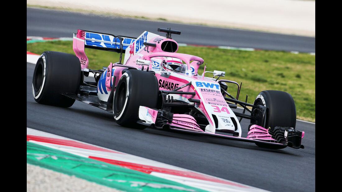 Nikita Mazepin - Force India - Barcelona F1-Test 2018 - Tag 1
