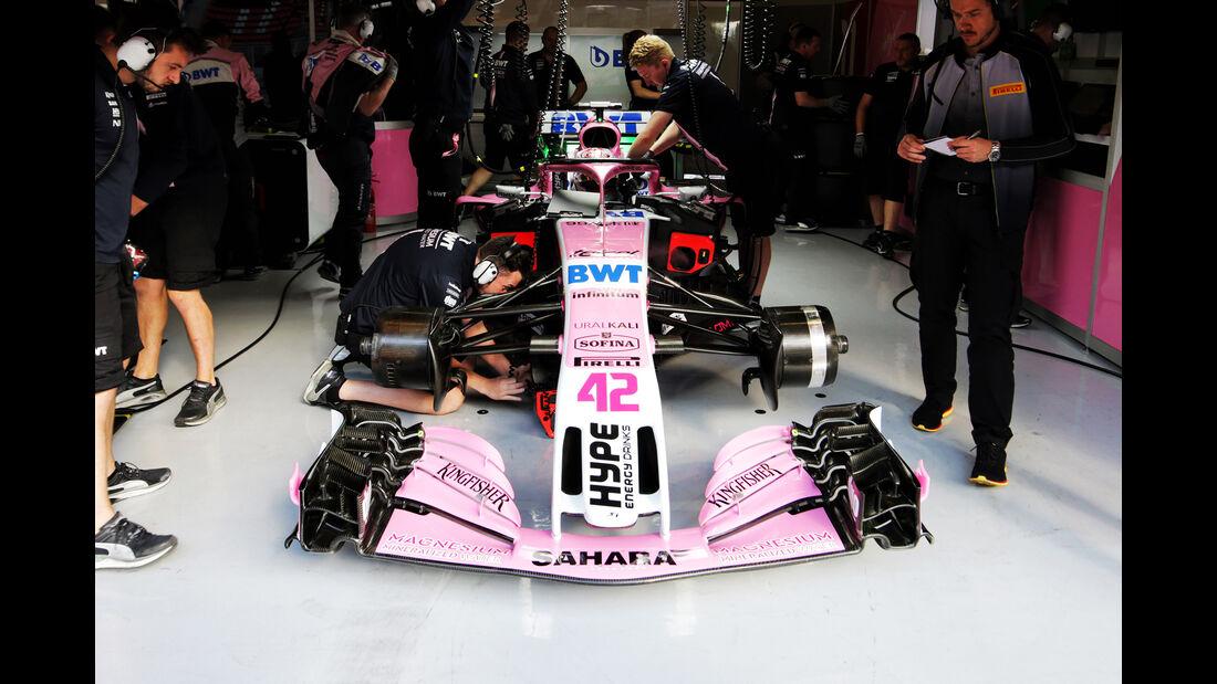 Nikita Mazepin - Force India - F1-Test - GP Spanien - Barcelona - Tag 2 - 16. Mai 2018