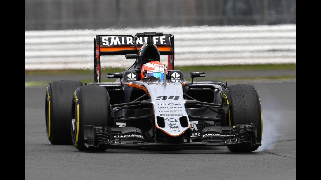 Nikita Mazepin - Force India - Formel 1 - Silverstone-Test - 12. Juli 2016