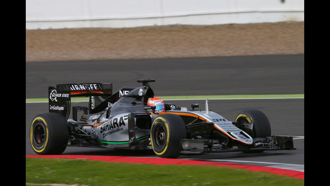 Nikita Mazepin - Force India - Formel 1 - Silverstone-Test - 13. Juli 2016