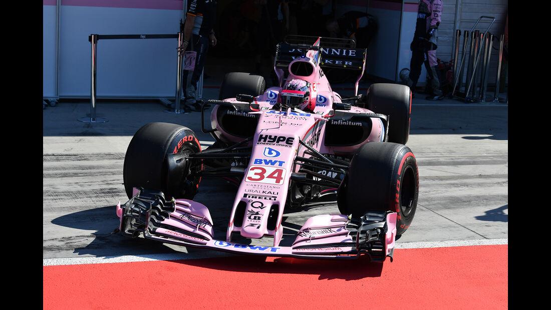 Nikita Mazepin - Force India - Formel 1 - Test - Ungarn - Budapest - 1. August 2017