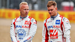 Nikita Mazepin - Mick Schumacher - Haas - Formel 1 - GP England 2021 - Silverstone