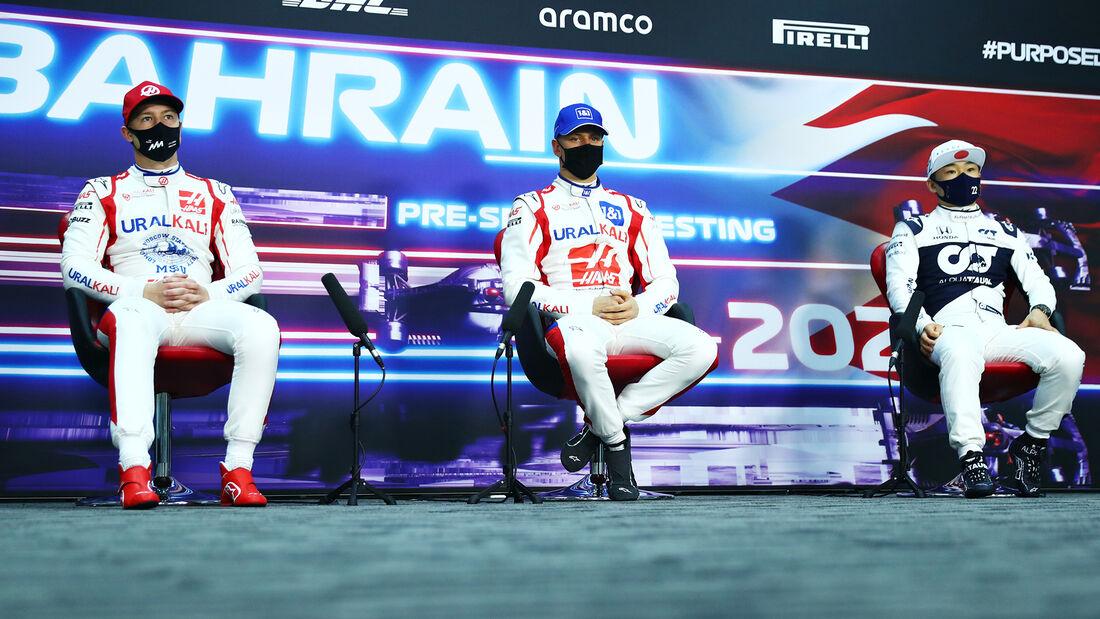 Nikita Mazepin, Mick Schumacher & Yuki Tsunoda - Formel 1 - Test - Bahrain - 14. März 2021