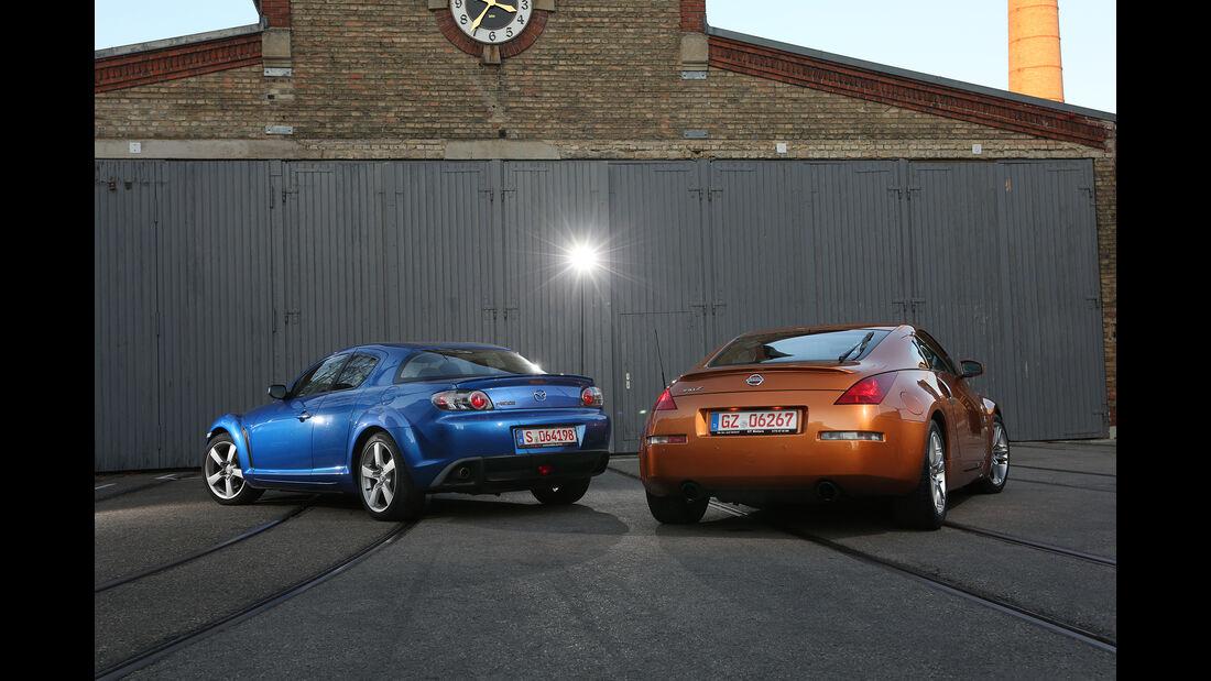 Nissan 350Z, Mazda RX-8, Exterieur