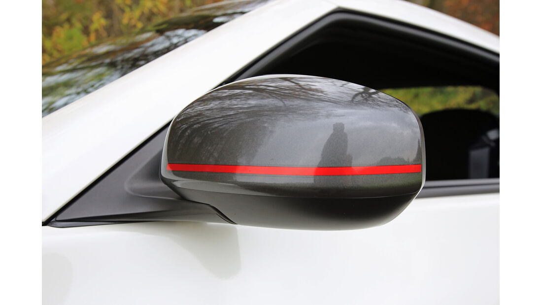 Nissan 370 Z Nismo, Seitenspiegel