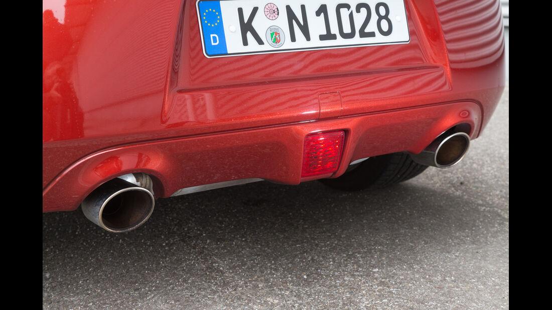 Nissan 370Z, Auspuff, Endrohr