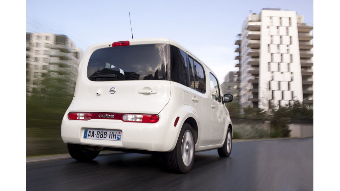 Nissan Cube 1.6, Heckansicht