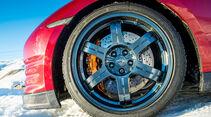 Nissan GT-R 2014, Vorderachse, Reifen, Felge