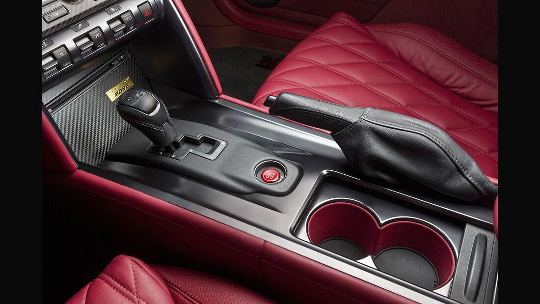 Nissan GT-R Egoist, Innenraum, Schalthebel, Mittelkonsole