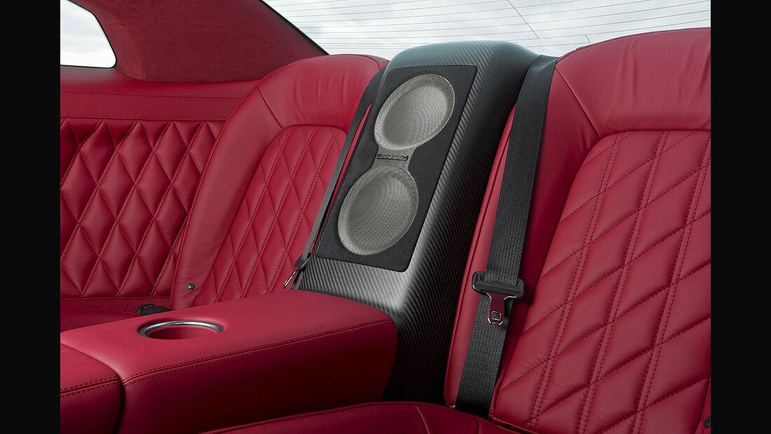 Nissan GT-R Egoist, Innenraum, Soundanlage, Rückbank
